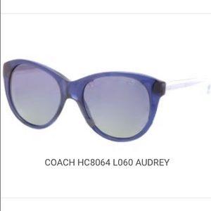 Coach 'Audrey' Navy/Crystal Sunglasses